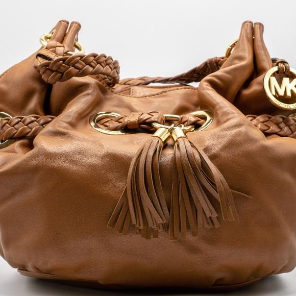 8fb9c58d5927 Michael Kors Bags | Braided Grommet Large Shoulder Tote | Poshmark